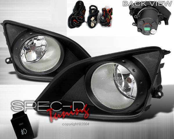 SpecD OEM Style Clear Fog Lights Toyota Corolla 09-10 - LF-COR07OEM
