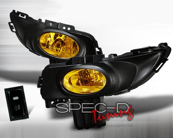 SpecD OEM Style Yellow Fog Lights Mazda 3 03-05 - LF-MZ3034AMOEM