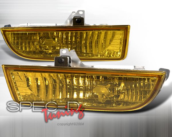 SpecD OEM Style Yellow Fog Lights Honda Prelude 97-01 - LF-PL97AM-RS