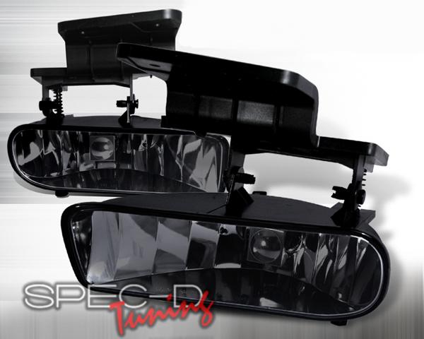 SpecD OEM Style Smoked Fog Lights Chevrolet Silverado 99-02 - LF-SIV99GOEM-APC