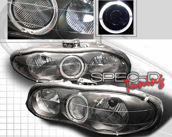 SpecD Black Housing Halo Headlights Chevrolet Camaro 98-01 - LH-CMR98HJM-KS