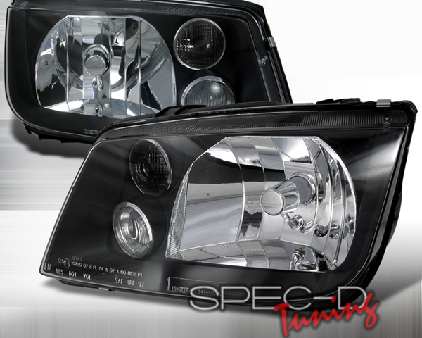 SpecD Black Housing Headlights Volkswagen Jetta 99-04 - LH-JET99JM-DP