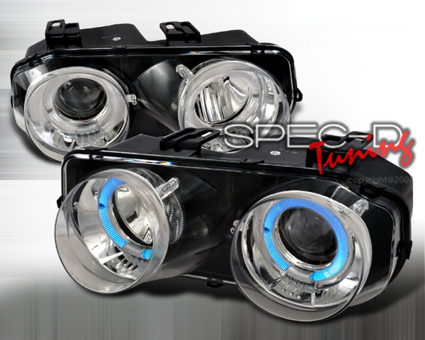 SpecD Chrome Single Projector White Halo Headlights Acura Integra 94-97 - LHP-INT94-WJ