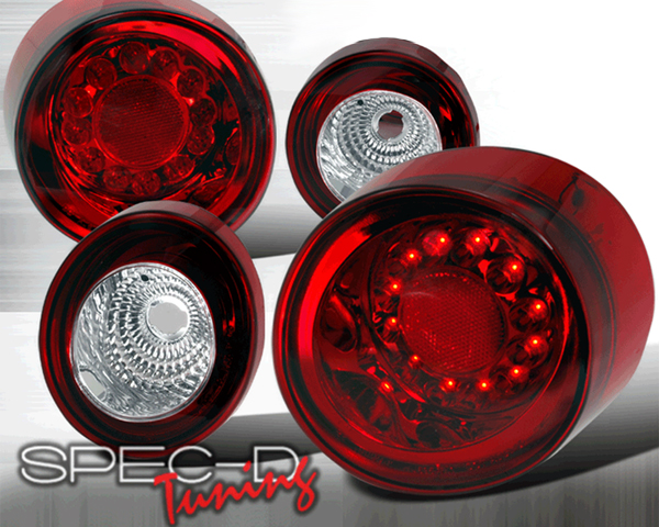 SpecD Red/Clear LED Tail Lights Chevrolet Cobalt 05-10 - LT-COB052RLED-TM