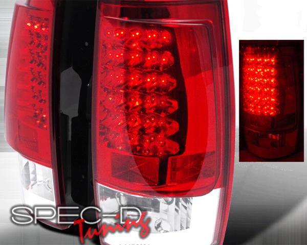 SpecD Black Housing LED Tail Lights Chevrolet Tahoe 07-10 - LT-DEN07JMG3LED-KS
