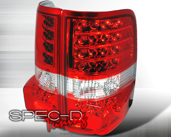SpecD Red/Clear LED Tail Lights Ford F-150 04-08 - LT-F15004RLED-KS