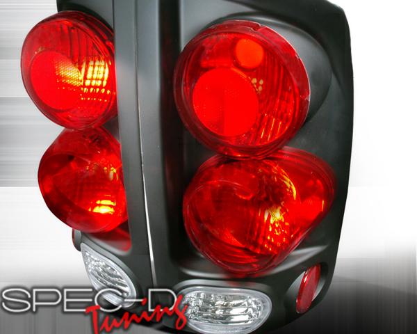 SpecD Black 3-D Altezza Tail Lights Dodge Ram 02-06 - LT-RAM023DJM-TM