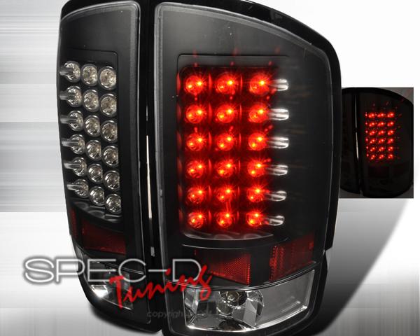 SpecD Black Housing LED Tail Lights Dodge Ram 02-06 - LT-RAM02JMLED-TM