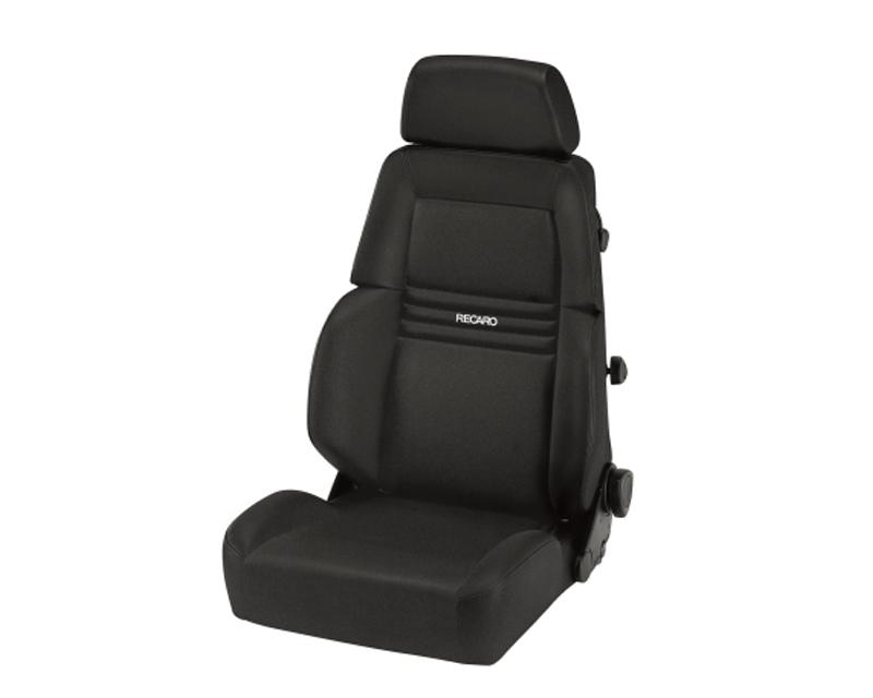 Recaro Comfort Seat Expert S 3 Point Belt  Black Avus | Black Avus White Logo - LTF.00.000.AA11