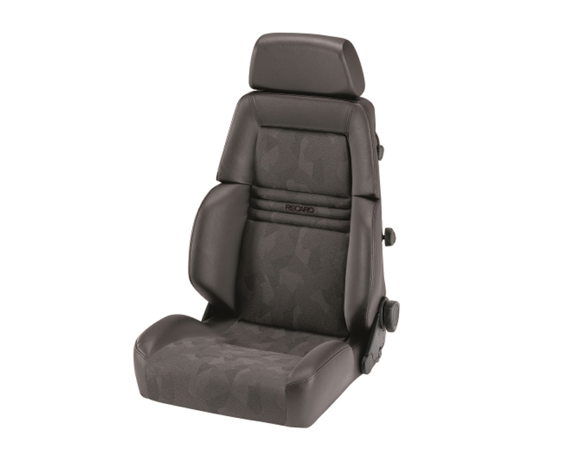 Image of Recaro Comfort Seat Expert S 3 Point Belt Leather Grey Grey Artista Black Logo