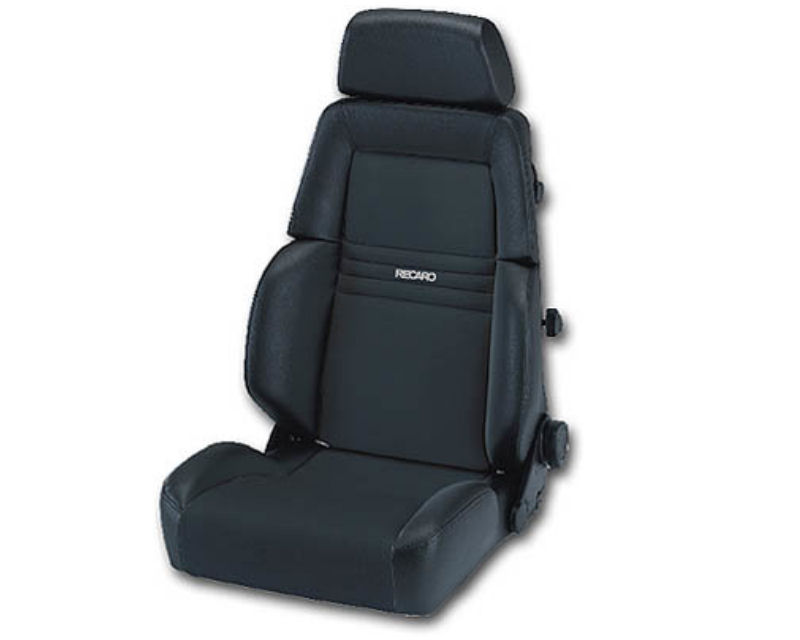 Image of Recaro Comfort Seat Expert M 3 Point Belt Leather Grey Grey Artista Black Logo