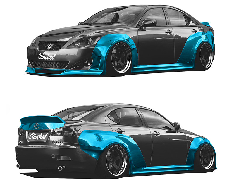 Clinched Flares Widebody Kit Lexus IS250 | IS350 06-12 - LXS-IS350