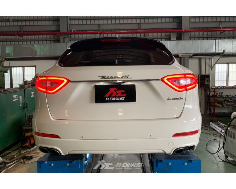 FI Exhaust Front and Mid X-Pipe with Valvetronic Muffler and Quad Tips Maserati Maserati Levante S V6 Turbo 17-21 - MS-LVT-CBV + TIP63101S*4