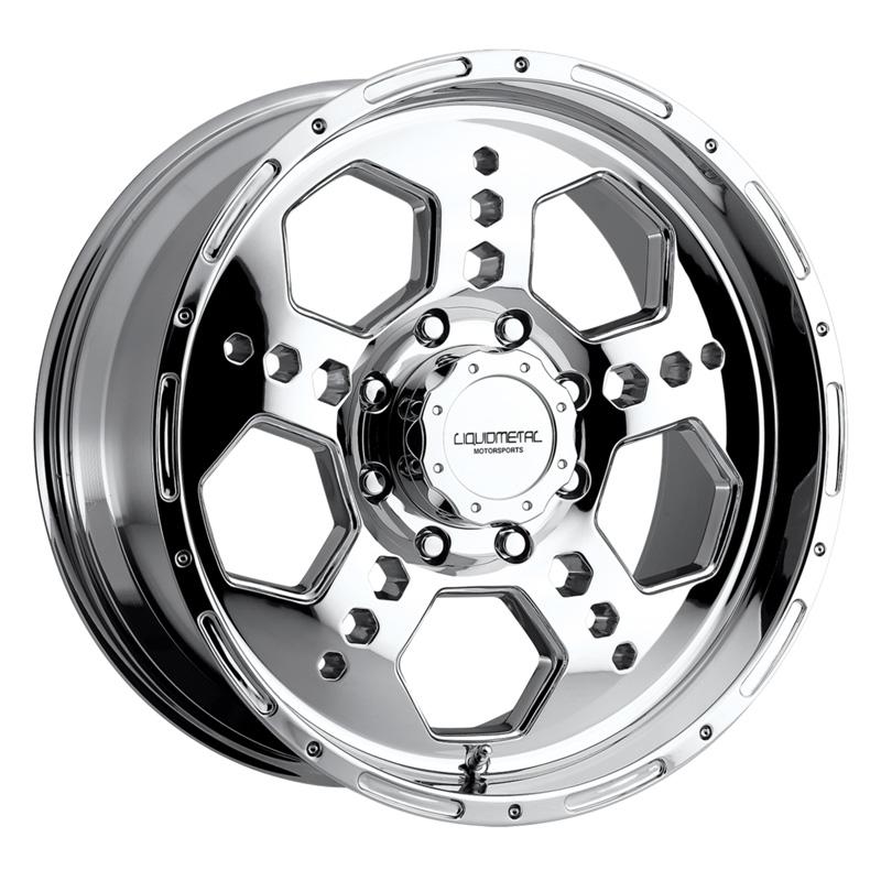Liquid Metal Gatlin Chrome Wheel 22x10 8x165.1 10mm - 22-2282C