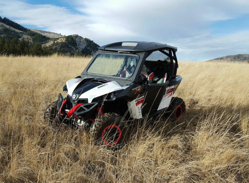 Ryfab 2Piece With Wiper Windshield Kit Canam Maverick - M2WSKW