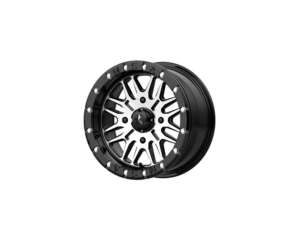 MSA Offroad Wheels M37 Brute Beadlock Wheel 16x7 4x4x156 +10mm Gloss Black Machined - M37-06756