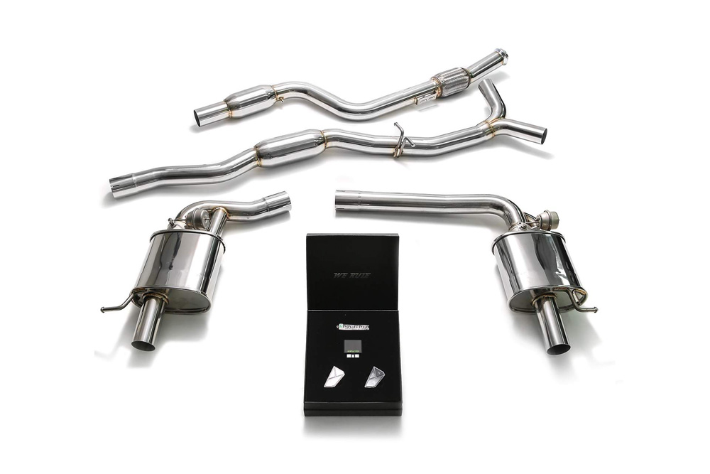 ARMYTRIX Stainless Steel Valvetronic Catback Exhaust System Mercedes-Benz C-Class W205 RHD 2015-2018 - MB052-RC