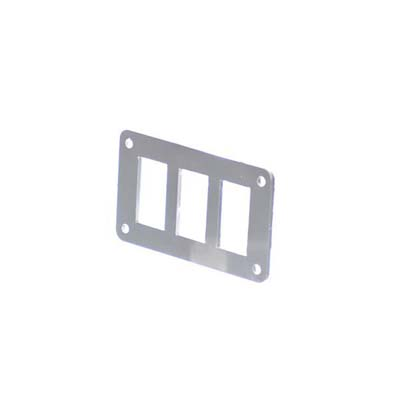 3 Hole Aluminum Switch Panel 4.5 x 2.5 Inch Motobilt - MB5510