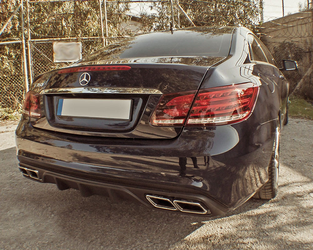 Moshammer Rear Diffuser With Black Exhaust Tips Mercedes Benz E63 Amg C207 13 16