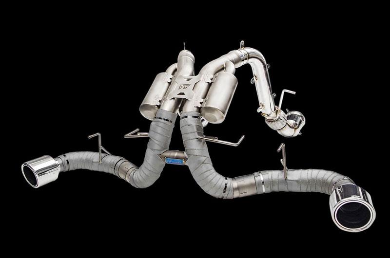 IPE Titanium Valvetronic Exhaust System with Heat Protector and Titanium Tips 540C | 570S | 570GT | 570S Spider 15-19 - MC006TI