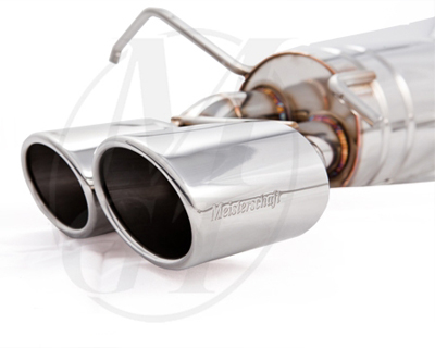 Meisterschaft Stainless GT Racing Exhaust 2x83mm Tips Mercedes-Benz C250 Coupe 1.8L Turbo 12-15 - ME0231201