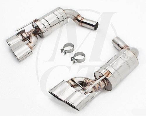 Meisterschaft Stainless HP Touring Exhaust 4x120x80mm Tips Mercedes-Benz SL500 03-06 - ME0411117