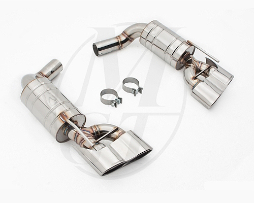 Meisterschaft Stainless GT Racing Exhaust 4x120x80mm Tips Mercedes-Benz SL600 5.5L V12 Bi-Turbo 03-11