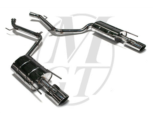 Meisterschaft Stainless GT Racing Exhaust 2x120x80mm Tips Mercedes-Benz S550 V8 Sedan 06-13 - ME0911231