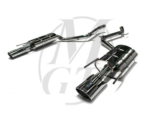 Meisterschaft Stainless GT Racing Exhaust 2x120x80mm Tips Mercedes-Benz CL600 V12 Bi-Turbo 07-10