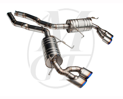 Meisterschaft Titanium GT Racing Exhaust 4x120x80mm Tips Mercedes-Benz ML63 AMG 6.3L 07-11 - ME1312218