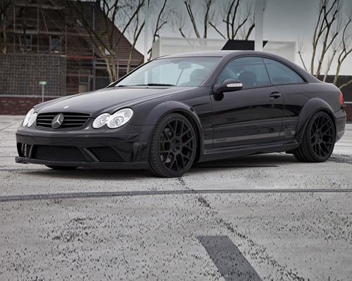 Image of Prior Design Black Edition Widebody Mercedes CLK W209 04-09