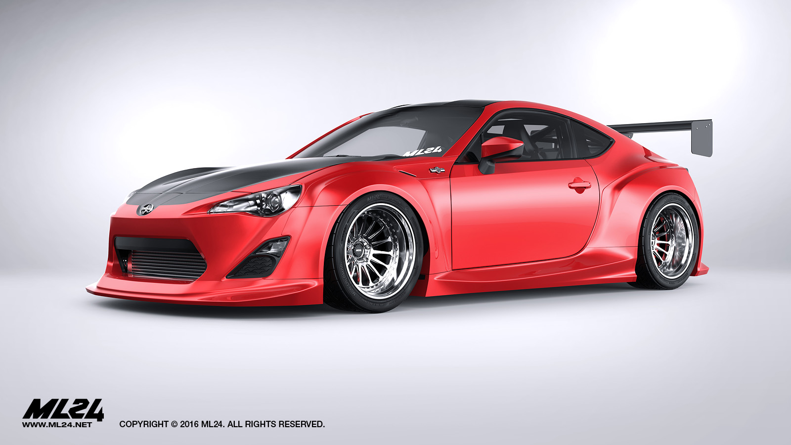 ml24 version 2 full widebody kit scion fr s 13 16. Black Bedroom Furniture Sets. Home Design Ideas