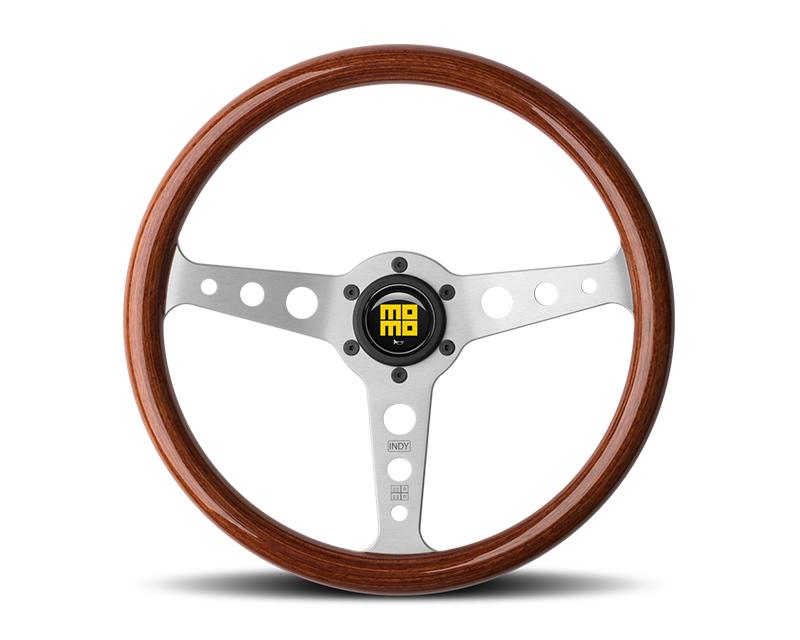 MOMO Heritage Indy Gloss Wood 350mm Steering Wheel - M-HI-350SW