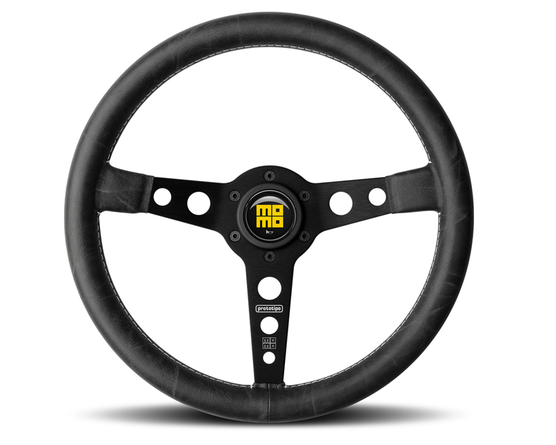 MOMO Heritage Prototipo Black 350mm Steering Wheel - M-PROB-350SW