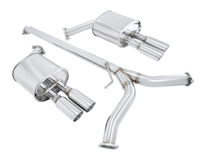 Megan Racing Type 2 Series Catback Exhaust System With Quad 3inch Stainless Rolled Tips KIA Optima: KIA Optima Cat Back Exhaust At Woreks.co