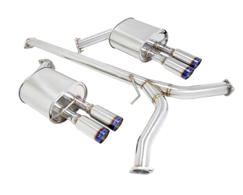 Megan Racing Type 2 Series Catback Exhaust System With Quad 3inch Stainless Burnt Rolled Tips KIA Optima 1117: KIA Optima Cat Back Exhaust At Woreks.co