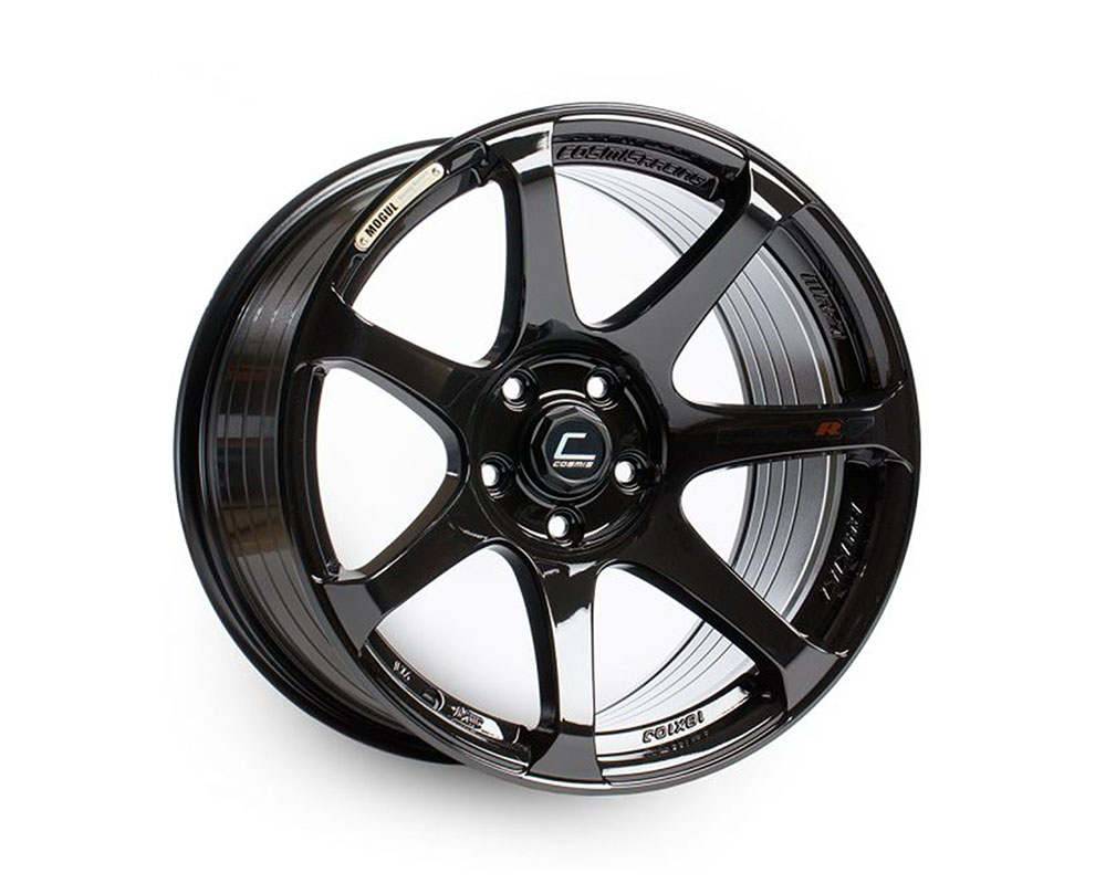 Cosmis Racing MR7 Wheel 18x9 5x100 +25mm Black - MR7-1890-25-5x100-B