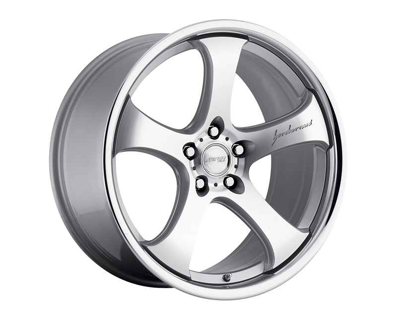 Image of MRR Design Silver Machined Face Chrome Lip CV2 Wheel 20x10