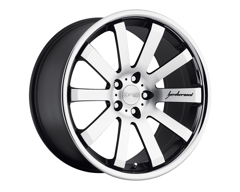 Image of MRR Design Machined Black with Chrome Lip CV8 Wheel 20x10