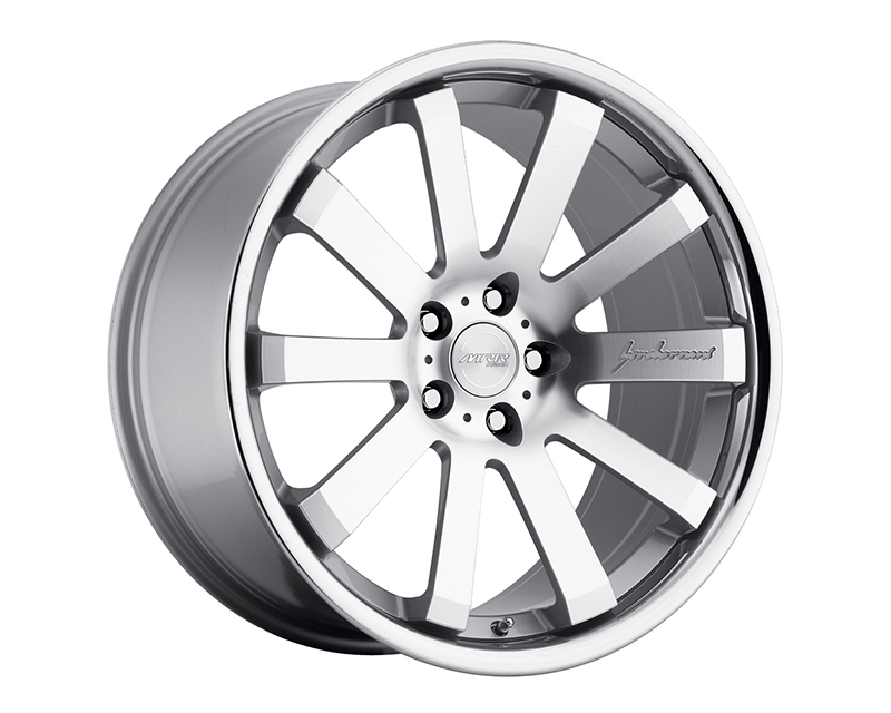 Image of MRR Design Machined Silver with Chrome Lip CV8 Wheel 20x10