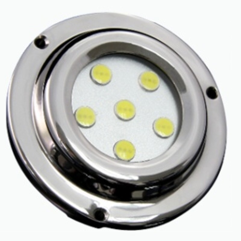 Race Sport Lighting White 6 LED 6x1W Surface Mount Marine Light - MS-ML-6X1W