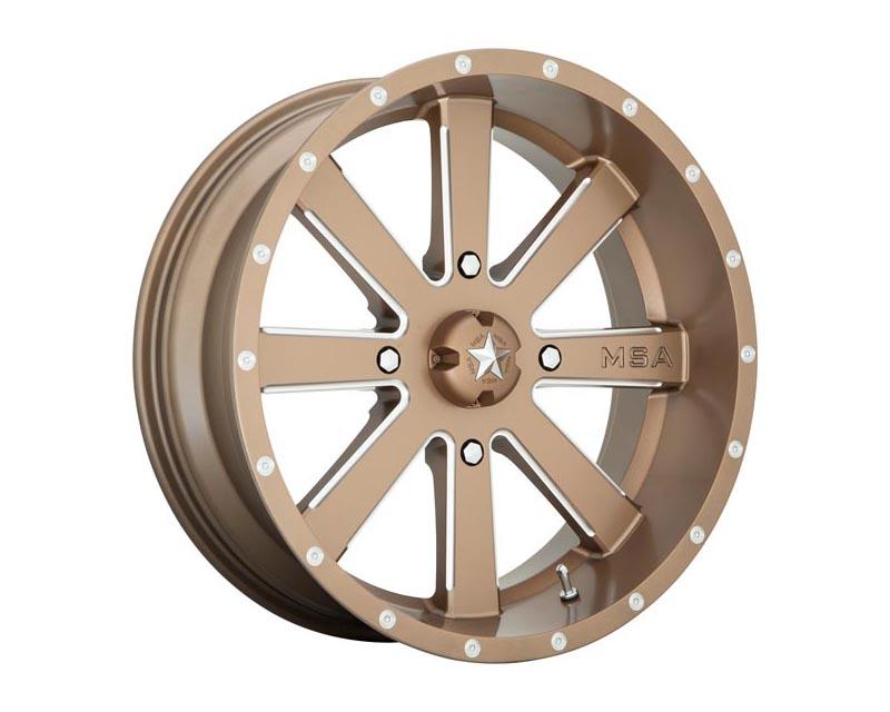 MSA Offroad Wheels Flash Wheel 22x7 4X137 0mm Bronze Milled - M34-022737B