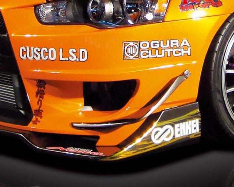 M Sport Carbon Front Canards Mitsubishi Lancer Evolution X 08-12 - MSCZA4-0006