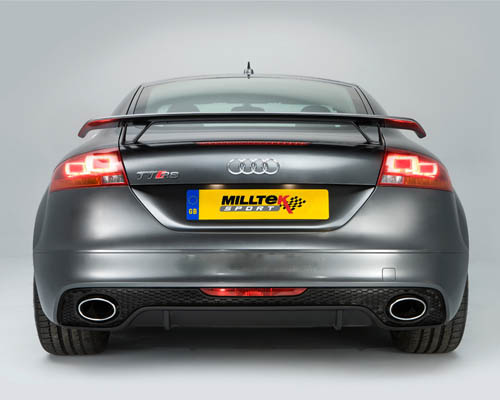 Milltek Race System Non Resonated Catback Exhaust with Active Exhaust Valve Audi TTRS 07-14 - SSXAU253