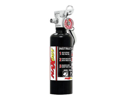 H3R Performance 1lb Black MaxOut Dry Chemical Fire Extinguisher - MX100B