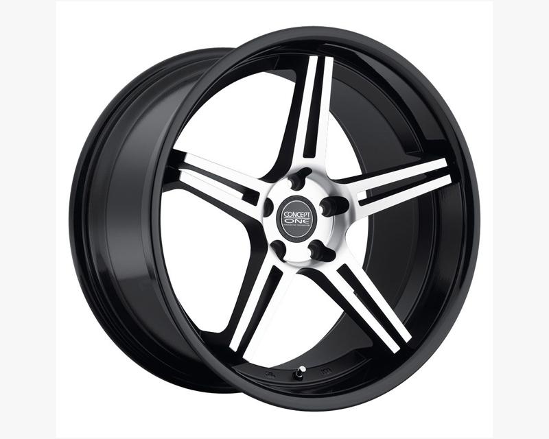 Concept One CS 5 Matte Black with gloss lip Wheel 20x9 5x114.3 25-36mm - C767 2090 25 5C MBKFBK