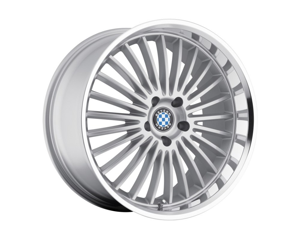 Beyern Multi Wheel 19x9.5 5x120 15mm Silver w/ Mirror Cut Lip - 1995BYT155120S72