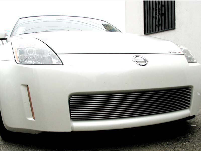 Grillcraft BG Series Polished Aluminum Grille Lower Insert Nissan 350Z 35th Anniversary Edition 2005