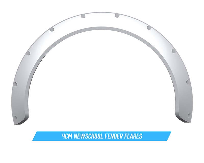 Clinched Flares New School 4cm Universal Fender Flares - NS4