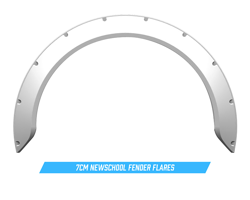 Clinched Flares New School 7cm Universal Fender Flares - NS7